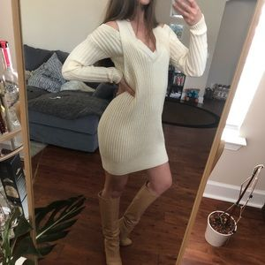 PINKO cream winter dress size S brand new!